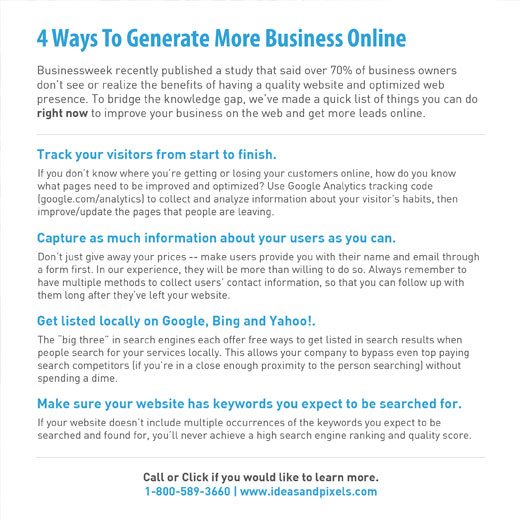 4 Ways To Generate More Business Online