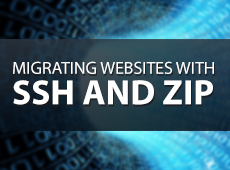 How to migrate a large website with ssh and zip