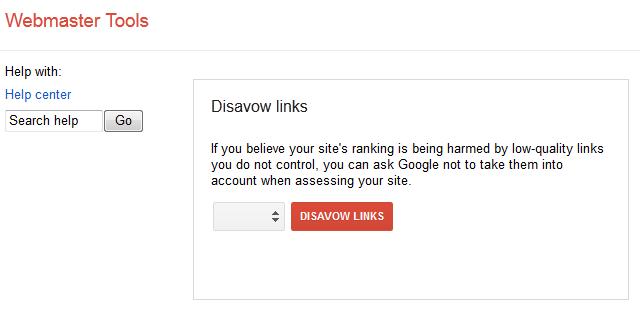 Disavow Google Links