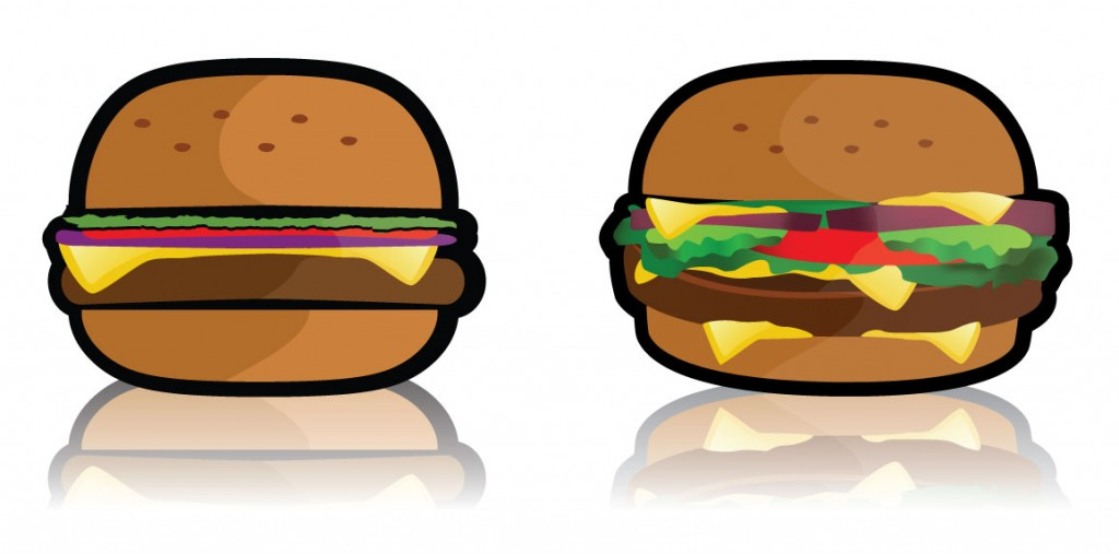 Free Hamburger Vector from Ideas and Pixels