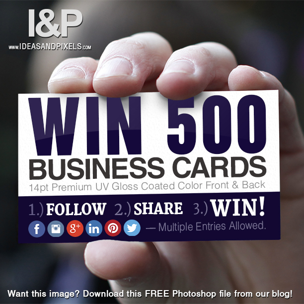 Business Card Social Media Giveaway Campaign